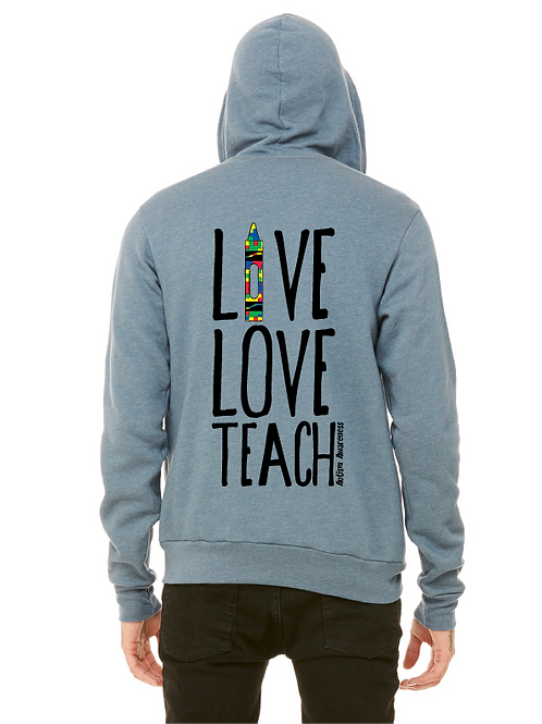 Teacher Autism Awareness Unisex  Zip Up