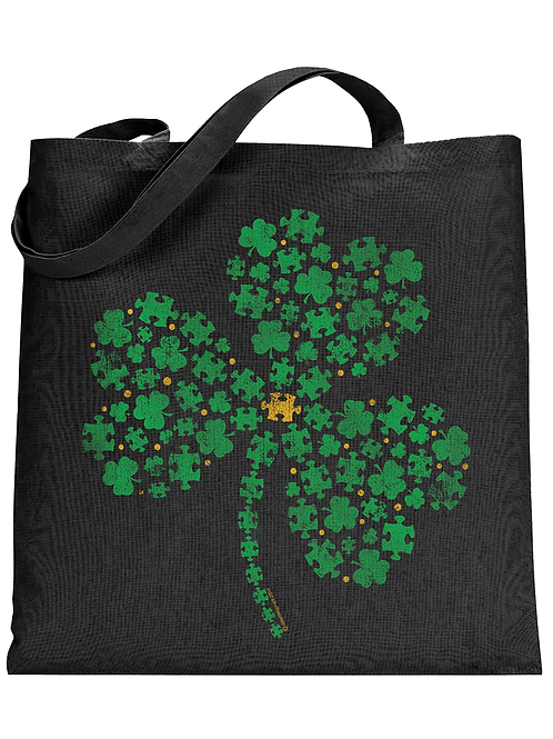 Puzzle Clover Tote Bag