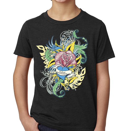 Flower Tattoo Unisex Youth Tee