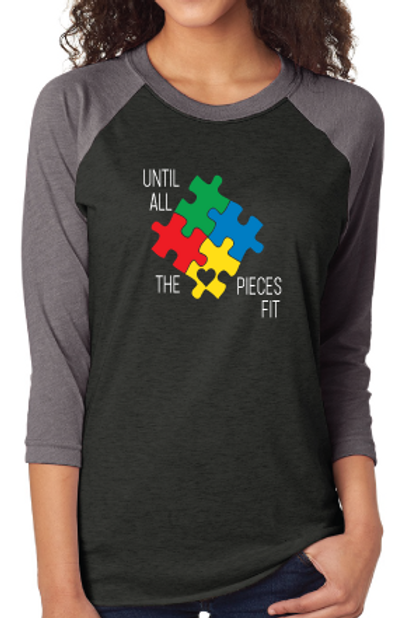Until All The Pieces Fit- Unisex Baseball 3/4 Sleeve