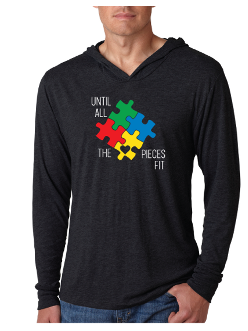 Until All The Pieces Fit- Unisex Light Weight Hoodie