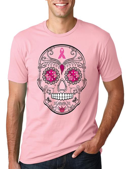 Sugar Skull Breast Cancer Unisex Tee
