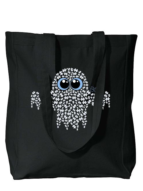 Ghost Halloween Autism Awareness Tote Bag