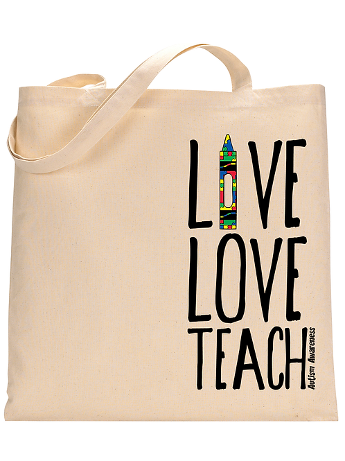 Live Love Teach Tote Bag