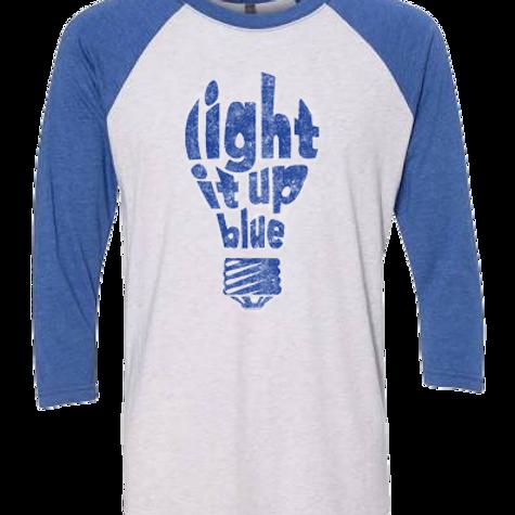 Light it Up Blue Bulb Unisex Jersey