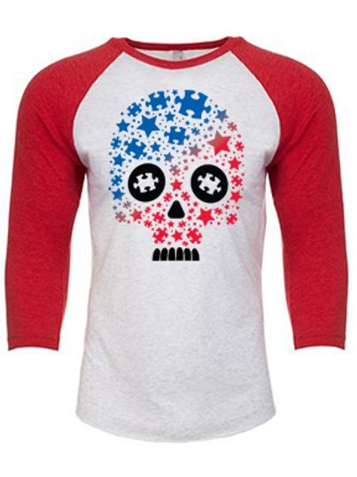 Patriotic Star Skull Unisex Jersey