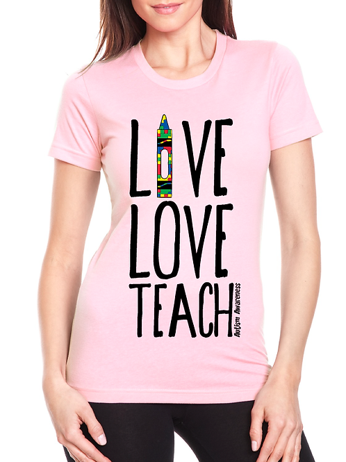 Teacher Autism Awareness Ladies Tee