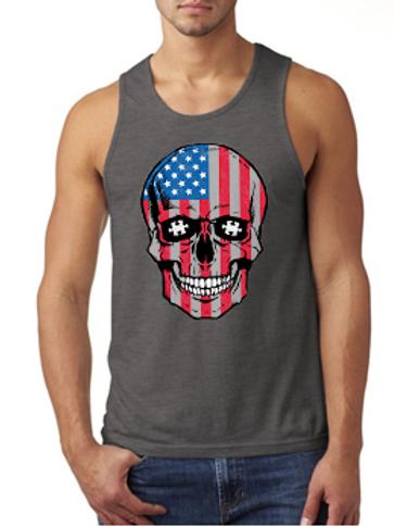 Patriotic Skull Men's Tank