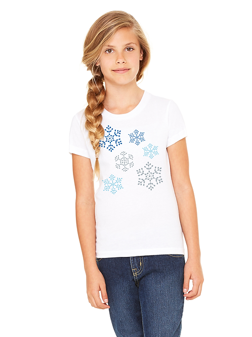 Puzzle Piece Flurries Unisex Youth Tee