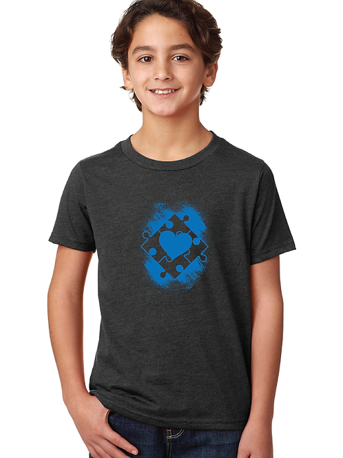 Heart Autism Puzzle Box Youth Tee