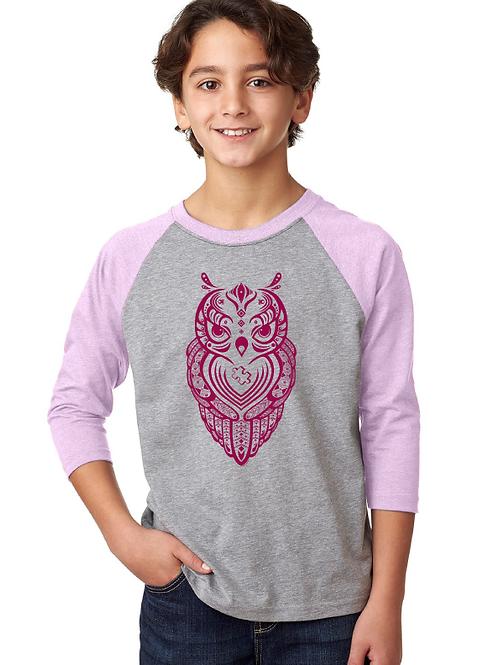 Owl Youth 3/4 Raglan