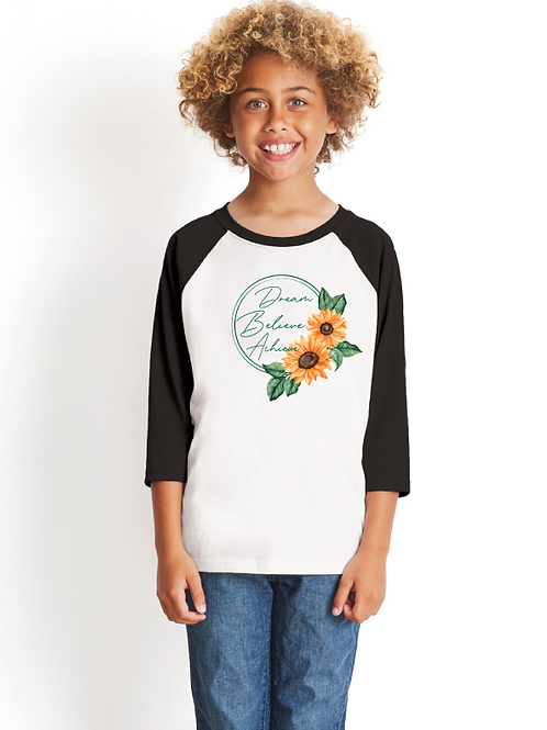 Dream Sunflower Youth 3/4 Raglan
