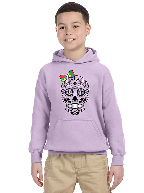 Bow Skull Youth Hoodie
