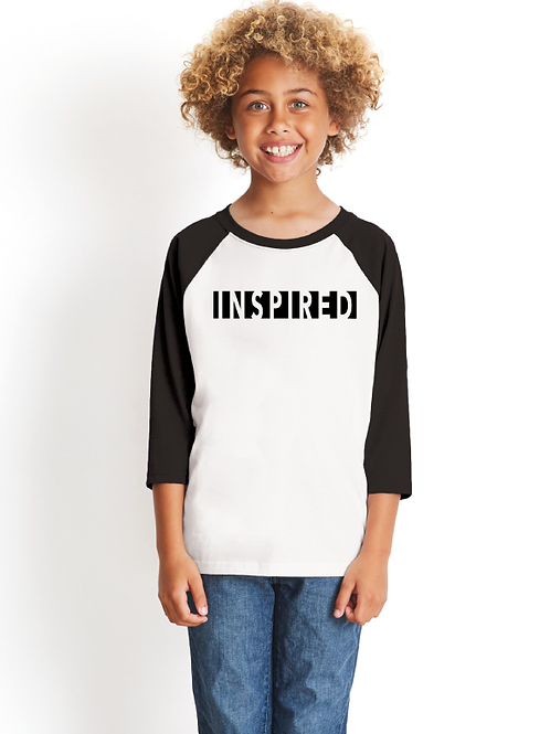 Be Inspired Youth 3/4 Raglan