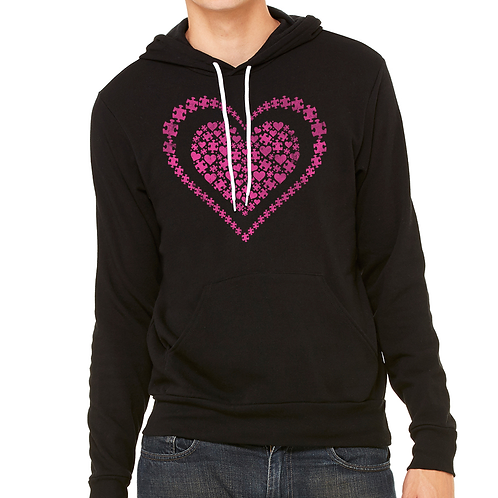 Heart of Puzzle Pieces Unisex Hoodie