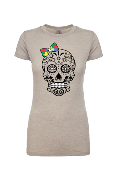 Primary Colors Bow Skull Women Tee