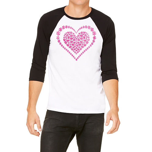Heart of Puzzle Pieces Unisex Jersey