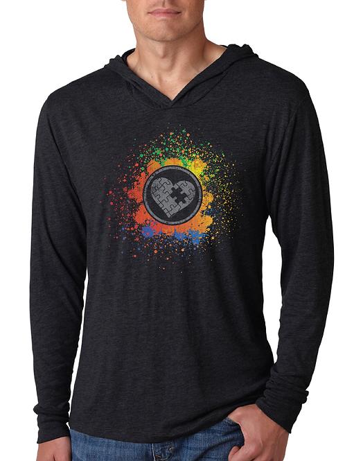 Rainbow Splash Lightweight Hoodie