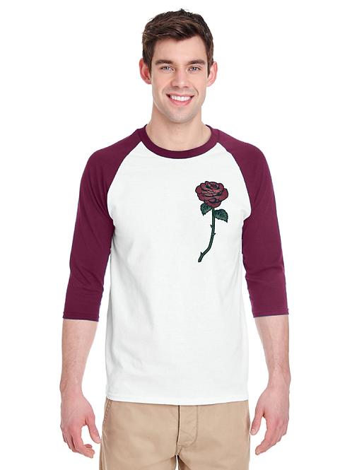Rose Unisex 3/4 Raglan