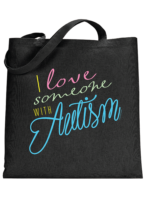I Love Someone Tote Bag