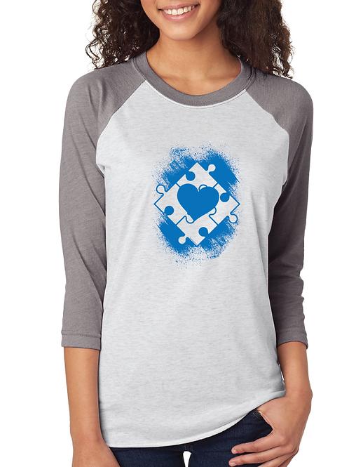 Heart Autism Puzzle Box Unisex Jersey