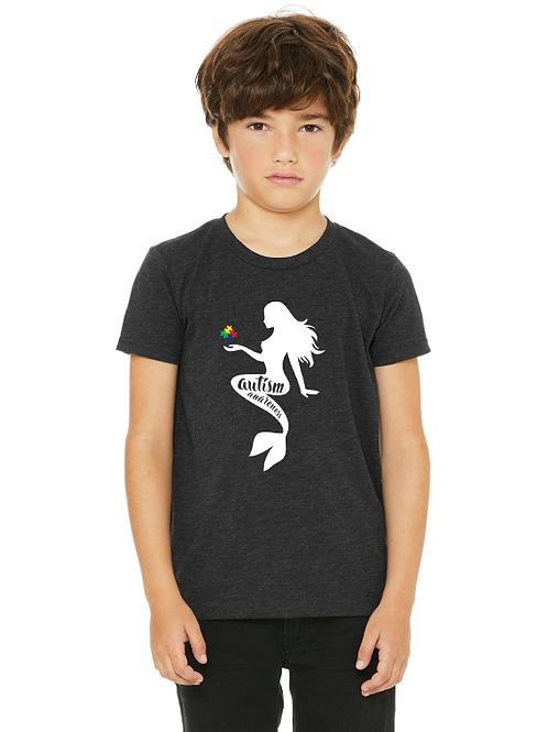 Mermaid Autism Awareness Boys Youth Tee