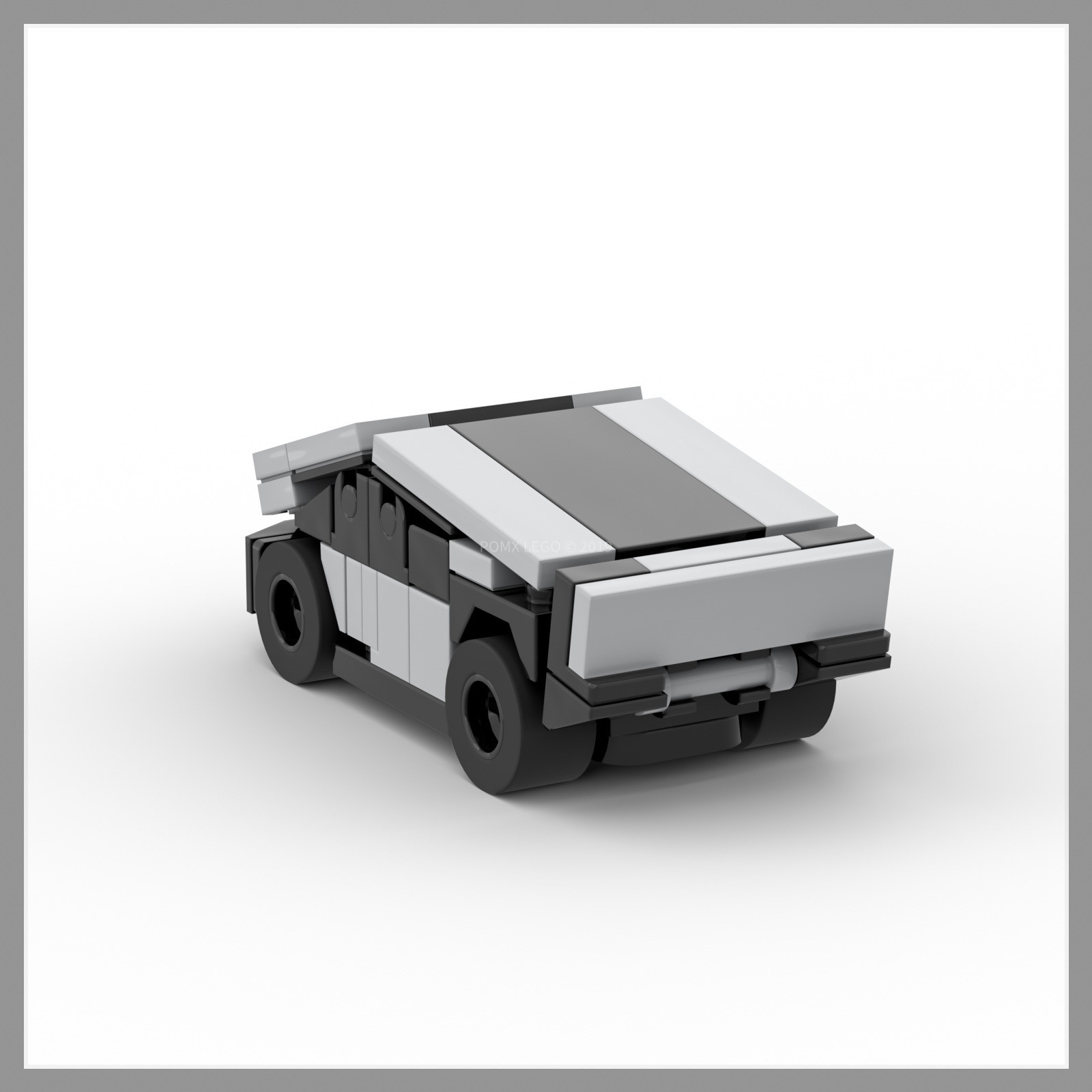 LEGO MOC Micro Tesla Cybertruck +Cyberquad with interior ...