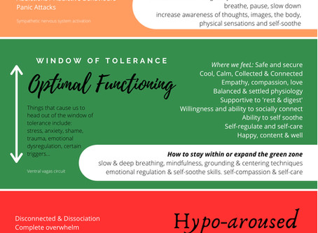 What is 'Window of Tolerance'? emotional regulation model explained