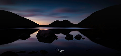 Blue Hour on Jordan Pond