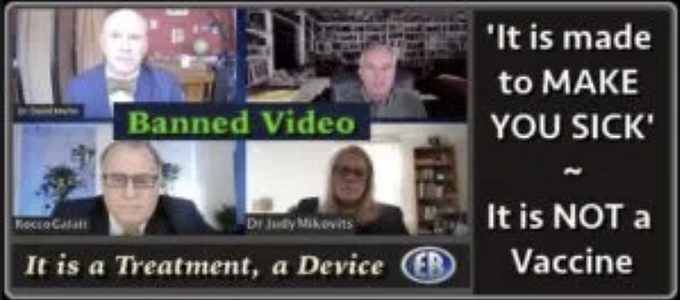 """""""This is Not A Vaccine"""" – It's a Medical Device to Make Us Sick 
