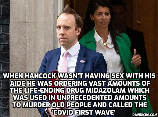 Midazolam, the end of life drug, was bought in vast qualities by Hancock and the UK government and..