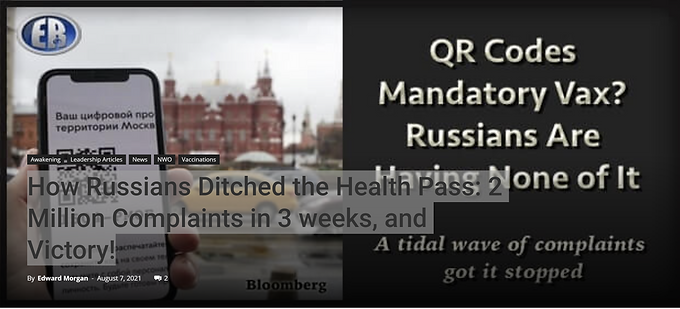 How Russians Ditched the Health Pass: 2 Million Complaints in 3 weeks, and Victory!