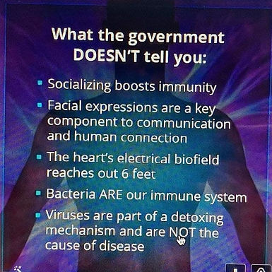 What the government DOESN'T tell you:
