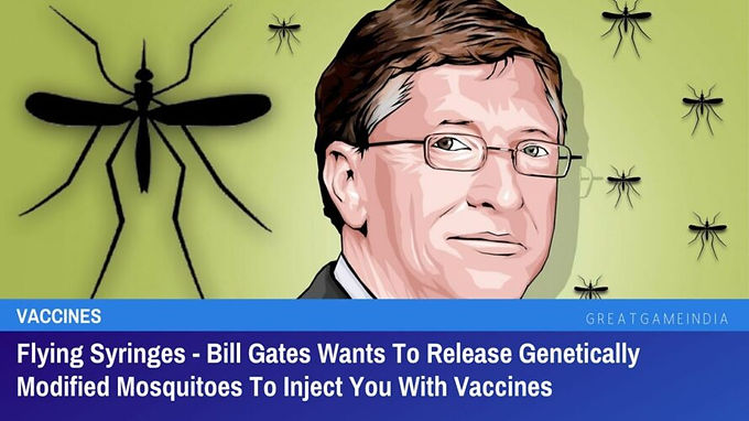 Bill Gates Wants To Release Genetically Modified Mosquitoes To Inject You With Vaccines
