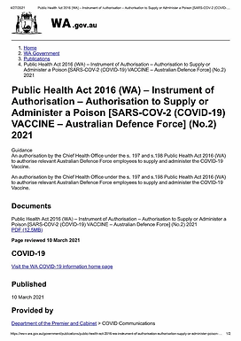 RED ALERT RED ALERT australian-gov-documents-vaccine-is-a-poison-distributed-by-un-chief-of-biologi