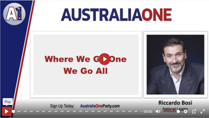 Riccardo Bosi has an important message for all Australians.
