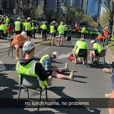 Dan Andrews said that Victorian construction works couldn't eat inside if they weren't vaccinated..