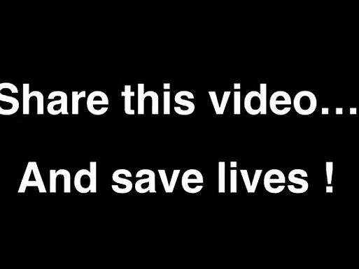 Share this video...And save lives!