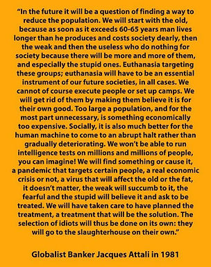 """""""In the future itwill be a question of finding a way to reduce the population..."""""""