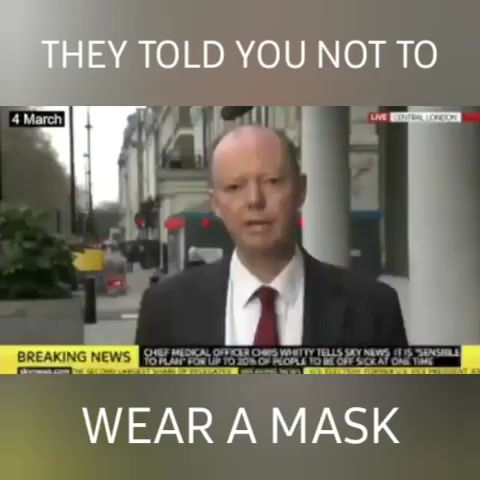 THEY TOLD YOU NOT TO WEAR A MASK