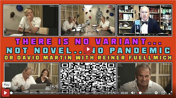 THERE IS NO VARIANT... NOT NOVEL... NO PANDEMIC. DR DAVID MARTIN WITH REINER FUELLMICH