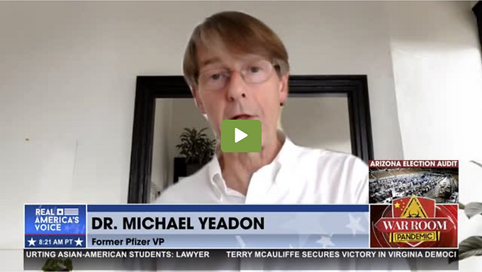 Ex-Pfizer VP Yeadon Warns: Children 50 Times More Likely to Die From Vaccine Than Virus
