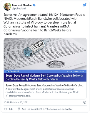 Secret Docs Reveal Moderna Sent Coronavirus Vaccine To North Carolina University Weeks Before Pandem