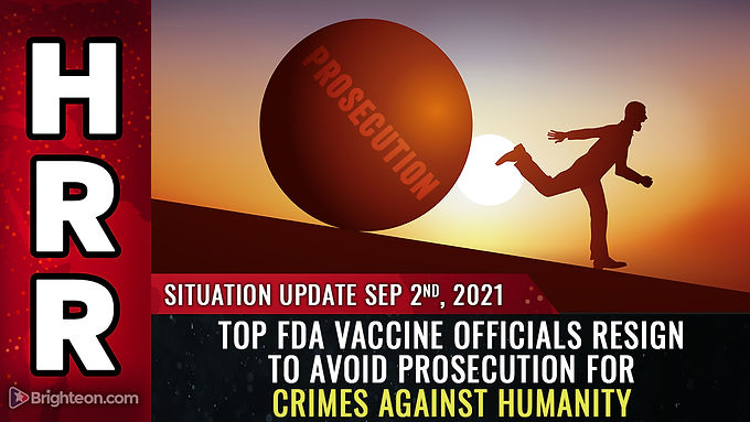 Top FDA vaccine officials RESIGN to avoid prosecution for crimes against humanity as White House, CD