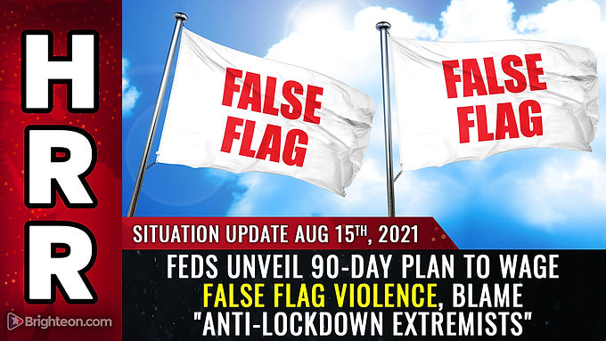 """Feds declare anti-vaxxers are """"terrorists,"""" unveil 90-day plan to wage false flag violence and blame"""