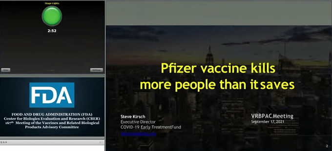 FDA experts reveal the Covid-19 Vaccines are killing at least 2 people for every 1 life they save as