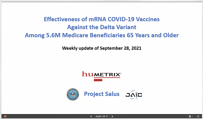 Leaked Dept. of Defense Document Reveals Evidence of Widespread VACCINE FAILURE