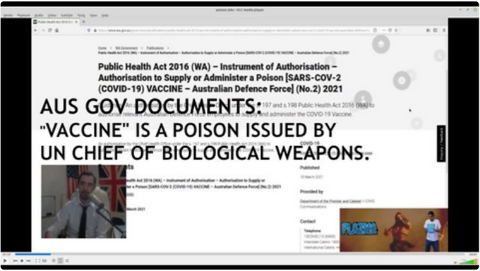 Australian Gov Documents: Vaccine is a Poison Distributed by UN Chief of Biological Weapons