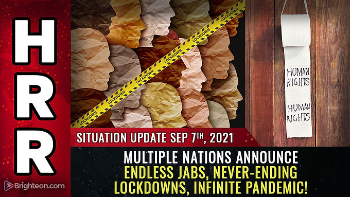 """INFINITE PANDEMIC: Multiple nations announce never-ending """"booster"""" shots, lockdowns, covid complian"""