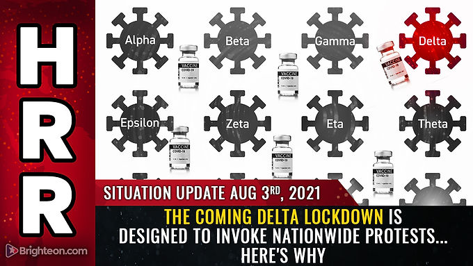 The coming Delta lockdown is DESIGNED to invoke nationwide protests so they can be exploited as a...